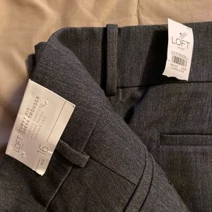 LOFT curvy fit dress trousers grey size 16 NWT